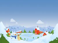 Bunny Christmas Town