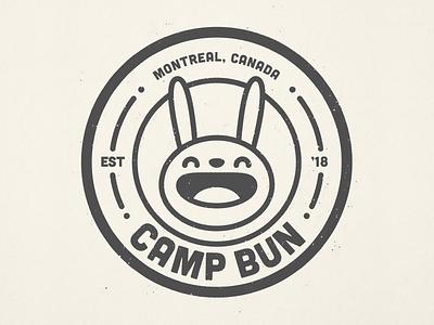 Camp Bun camp logo badge bunny illustration
