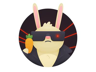 Hasta La Vista, Bunny terminator hopper bunny illustration