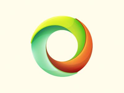Circular Logo Device Thingy design logo illustration digital shading circle fresh colourful shadow device circular enviro press print icon