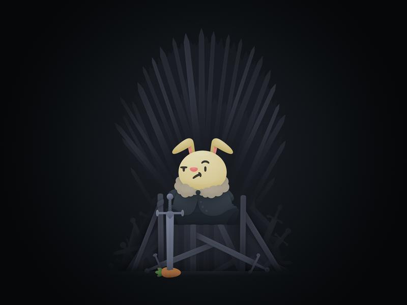 Bun of Thrones cute swords jon snow illustration bunny game of thrones