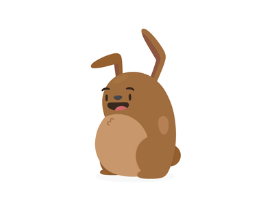 Animated Stickers travel app hopper stickers message cute bear bunny animation illustration