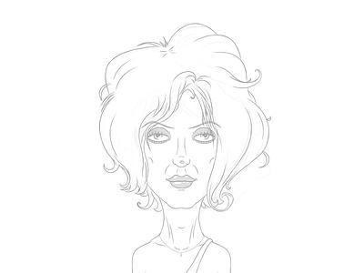 Blondie Sketch blondie sketch holler illustration digital portrait cartoon comic boardroom deborah harry caricature
