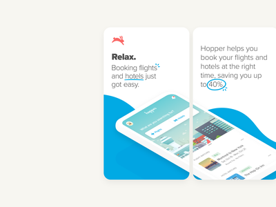 App Store Screenshots screenshots travel cute bunnies design mobile app hopper