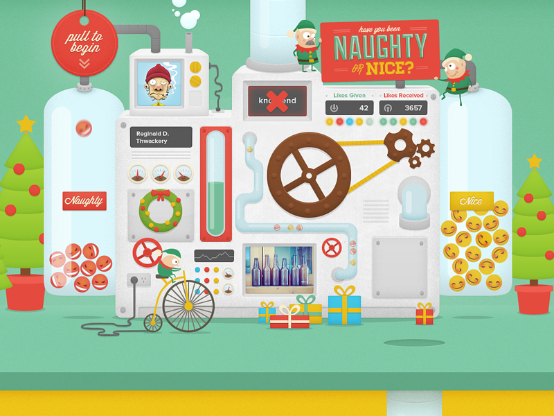 Naughty or Nice Machine by Thomas Fitzpatrick | Dribbble | Dribbble