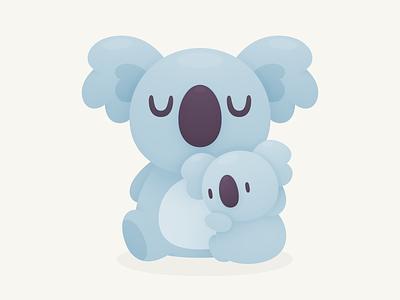 Koala Hug baby hug character cute australia koala illustration
