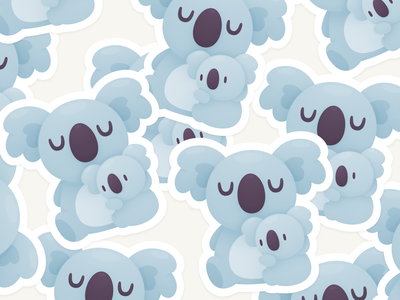Koala Hug Stickers