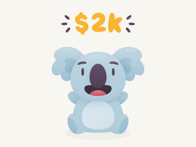 Koala Hug Stickers Donation happy cute australia illustration character sticker koala