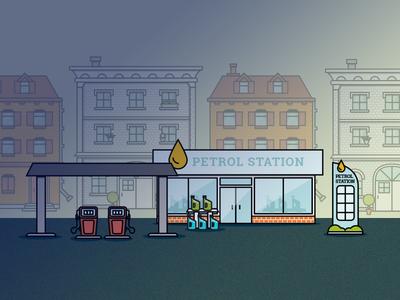 City Icons - Petrol station