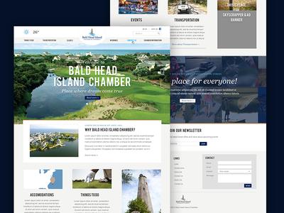 Bald Head Island Chamber webdesign