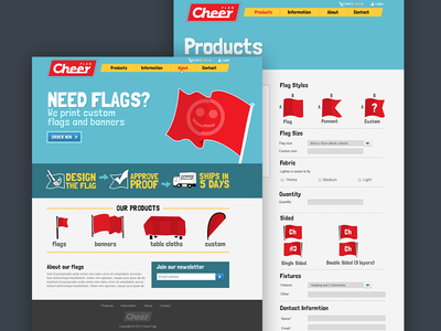 Cheerflag webdesign