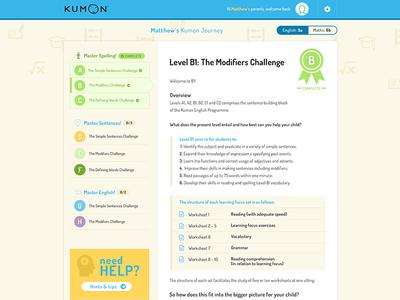 Kumon - user panel