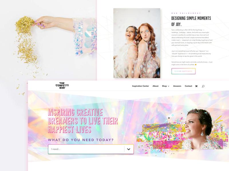 The Confetti Bar - 2019 design colorful colorful design confetti white