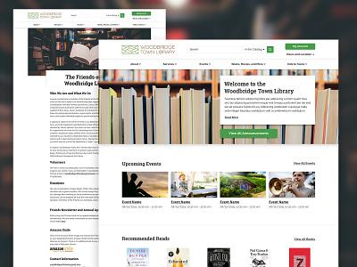 Woodbridge Town Library library green white clean website design website