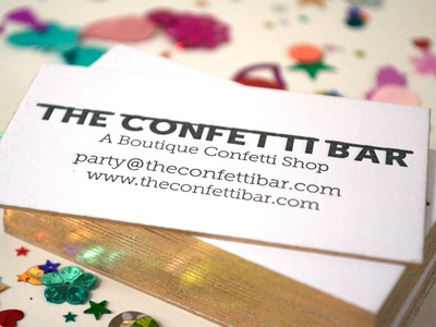 Letterpress Business Cards - The Confetti Bar