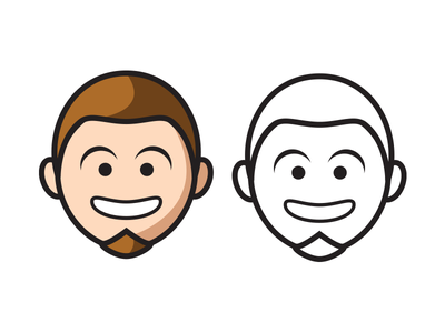 Redesigned (My Face) logo face smile toon branding icon
