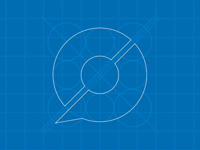 New Logo Blueprint logo c p branding blueprint circles lines talk bubble