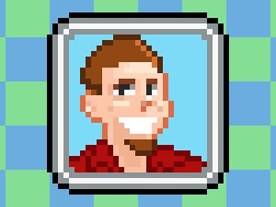 Self-Portrait in 16 Bits pixel art 16bit snes avatar retro