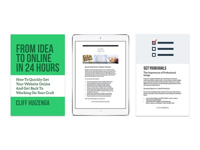 From Idea To Online In 24 Hours ebook digital book business clean flat minimal green white