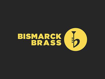 Bismarck Brass b-flat gold trumpet brass music logo