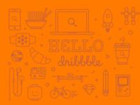 Hello Dribbble 🍊