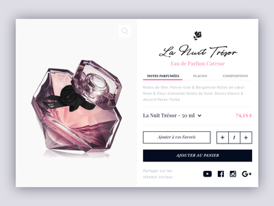 Product page  💁🏻  ✨ shop minimal interface landing website luxury clean webdesign ux ui pink layout
