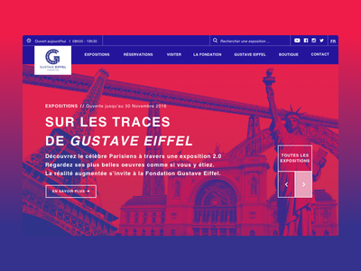 Funny website 🔵🔴 gradient flat branding clean page landing ux art layout design ui web