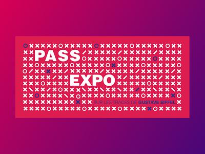 Pass Exposure 🎟 🎭 illustration clean character flat branding vector icon gradient ui design exhibition