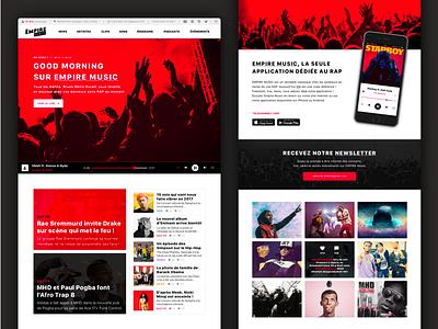 Website Radio 🎧  flat music interface web webdesign ux branding app ui design gradient color