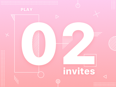 #02 Dribbble Invitations Giveaway ✌🏻 draft vector design game shot gradient designers two illustration player invites dribbble