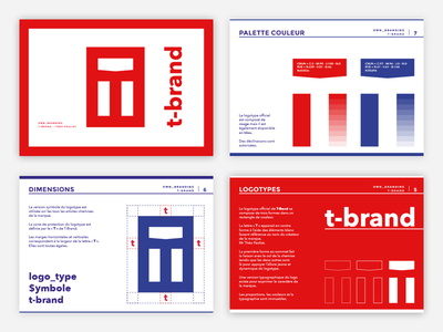 T Brand - Guidelines 🎈 book identity logotype logo brand element branding typography style guidelines guide color