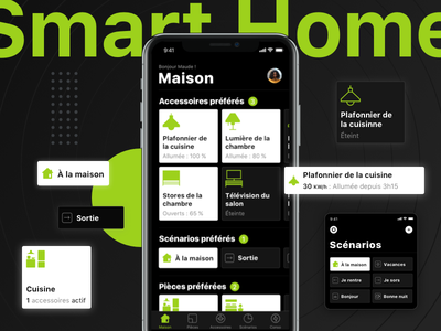 Smart Home App' 🏡 automation iot smart home control ux ui interface iphone mobile ios app