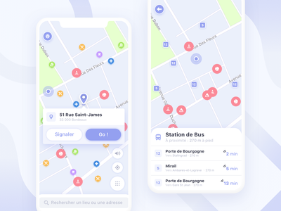 Road Map App for Handicapped Person ♿️ nav minimal application interaction ios design app navigation health mobile interface location travel map ux ui iphone