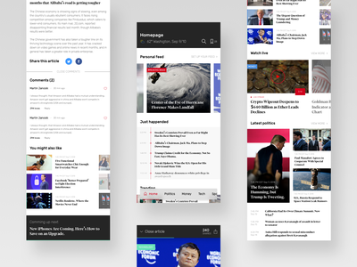 News app concept news app ios ux ui