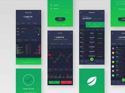 Bitfinex redesign aka crypto trading platform ux ui trading platform iphone ios crypto app