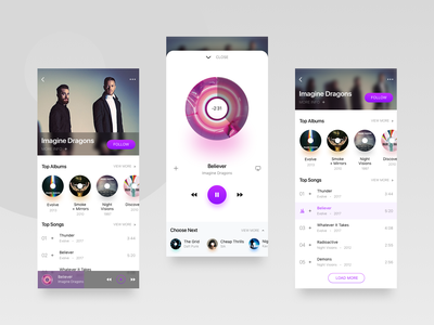 Daily UI Challenge #009 Music player app daily daily 100 music music app ios ui ux gradient daily 009