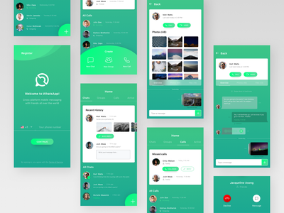 Whatsapp redesign concept ui ux ios app iphone whatsapp redesign