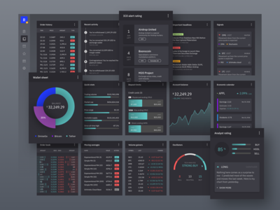 Plugin cards for crypto trading dashboard