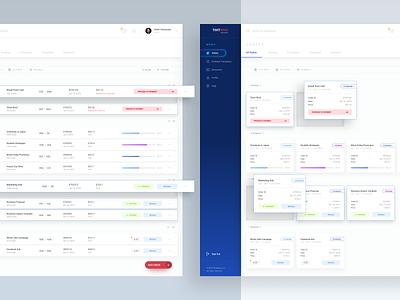 Textemo business dashboard for translations blue gradient dashboard app ux ui minimal minimalism