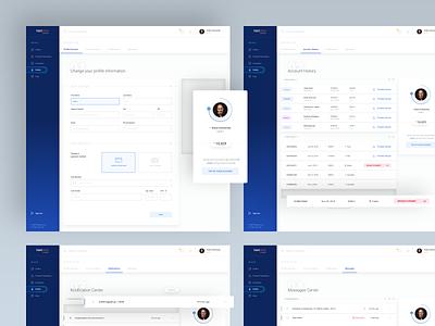 Textemo business dashboard - profile blue gradient dashboard app ux ui minimal minimalism profile