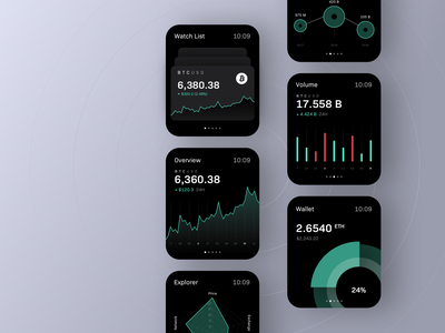Trading app for apple watch + 3 Dribbble invites invite dribbble invite ui ux apple watch watch trading crypto finance blockchain crypto exchange