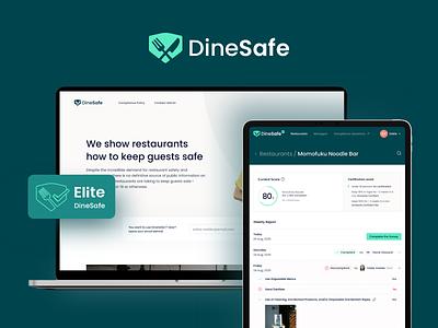 Dinesafe design logo illustration ux web app ui