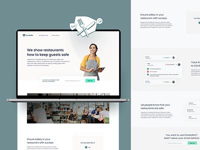 DineSafe Website and Dashboard profile ratings restaurants safe covid food website dashboard design