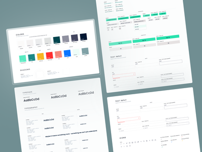 DineSafe Style Guide components ui green bright covid restaurant style guide