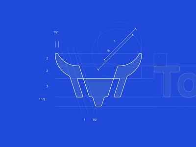 TornyTrades Logo Proposition typography trading platform trading crypto exchange stocks bull trades torny logo