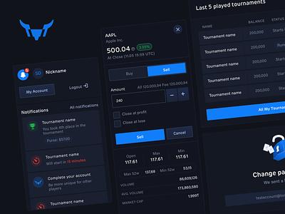 TornyTrades Dashboard crypto exchange crypto currency crypto game game stocks bull dark theme dashboard crypto exchange platform exchange