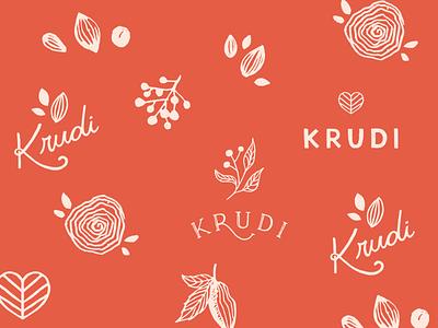Logo exploration natural cacao cakes vegan plants seeds hand drawn branding logo illustration