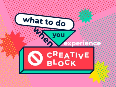 Creative Block Blog Post pop colorful article creative block briefbox blog creativity illustration