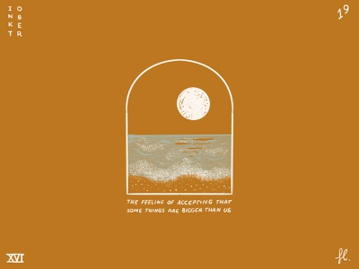 Acceptance illustration universe mystical night line art portal window moon moonlight ocean sea