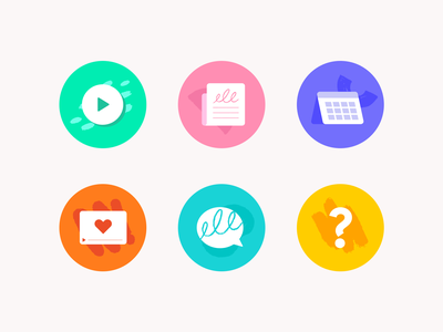 Instagram Highlights Icons ui news video play calendar speech bubble geometrical shapes vector instagram illustration icons